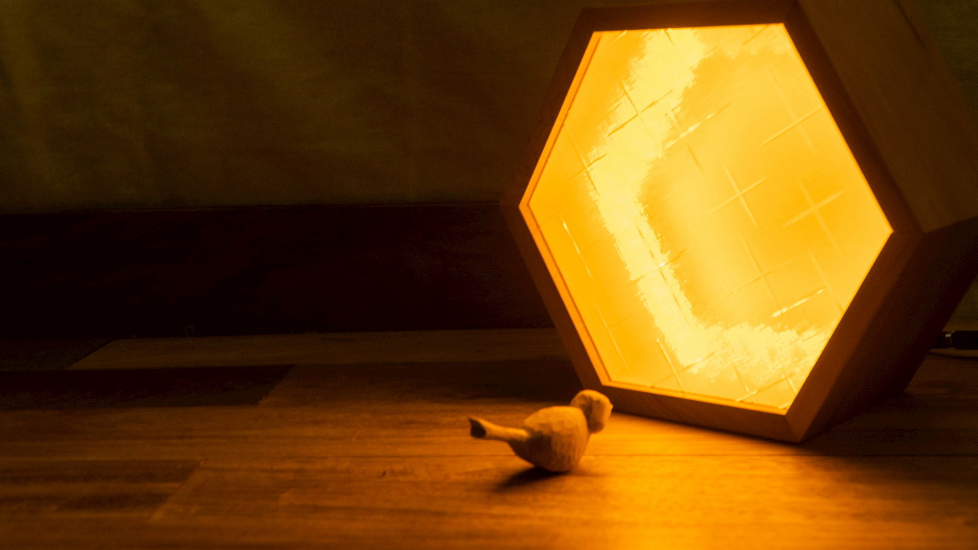 夜燈diy,充滿回憶的老壓花玻璃改裝